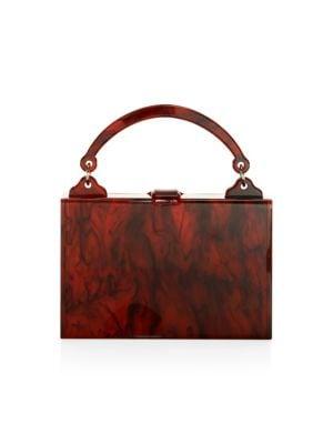 EDIE PARKER | Housewife Acrylic Top Handle Bag | Goxip