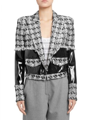Vinyl Tweed Blazer