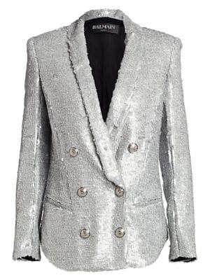 Oversize Sequin Blazer