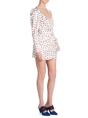 Rose-Print Mini Dress