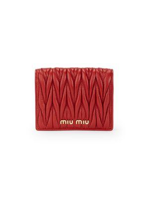 Matelassé Leather Bi-Fold Wallet