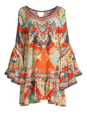 Frill Multi-Print Cover-Up