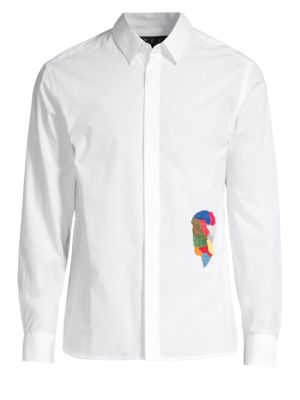 P.L.C. Men In Silhouette Embroidered Shirt