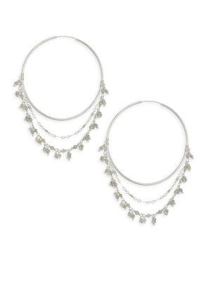 CHAN LUU Labradorite Layered Hoop Earrings
