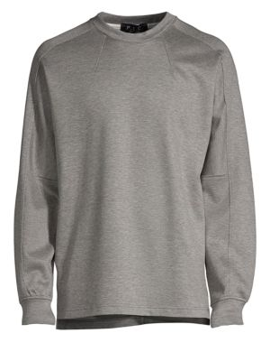 P.L.C. Men In Silhouette Oversized Low Edge Long-Sleeve Tee