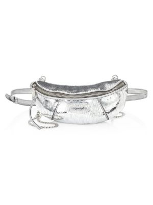 Silver Pailletes Belt Bag