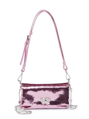 Sequin Chain Small Crossbody
