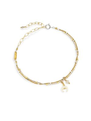CHAN LUU Layered Charm Bracelet