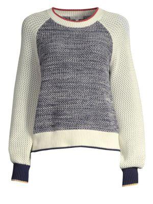 Golani Colorblock Cotton Knit Sweater