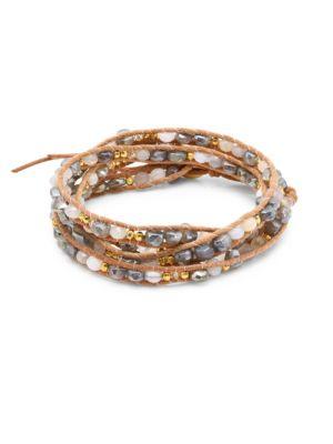 CHAN LUU Mystic Labradorite Mix Wrap Bracelet