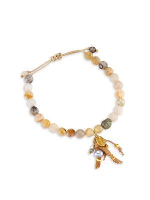 CHAN LUU African Opal Leather Bracelet