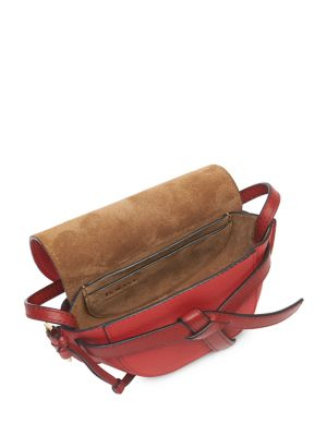 Two-Tone Soft Grained Leather Gate Mini Bag展示图