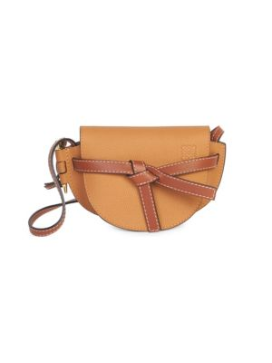 LOEWE Two-Tone Soft Grained Leather Gate Mini Bag