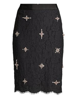 Ortally Lace Pencil Skirt
