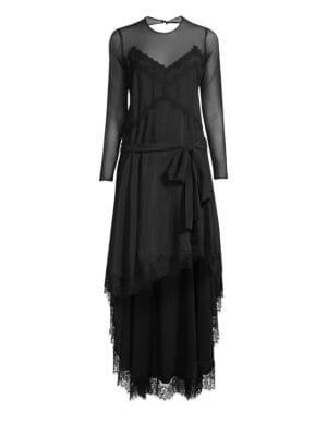 Silk & Lace High-Low Dress