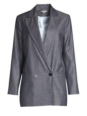 Merkel Double Breasted Silk & Wool Jacket
