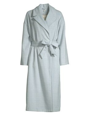 Woodside Plaid Wool Coat
