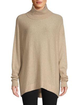 Aydin Oversized Wool & Cashmere Turtleneck Sweater