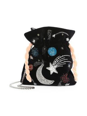 Trilly Universe Velvet Pouch Mini Bag