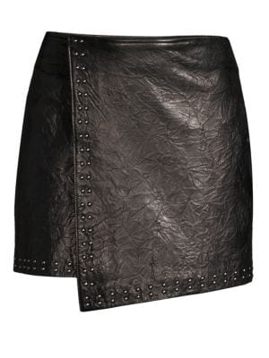 Orlanda Washed Leather Mini Skirt