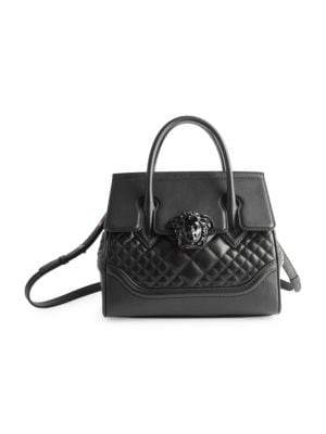 Quilted Palazzo Empire Top Handle Bag