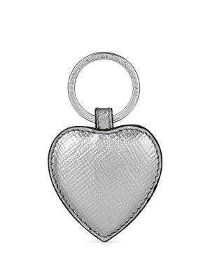 Panama Heart Leather Keychain