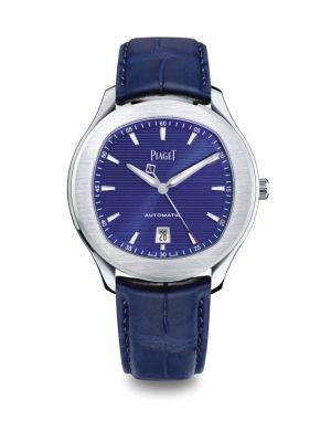 Polo S Stainless Steel Alligator Strap Watch