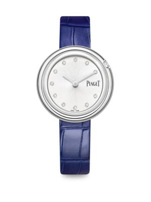 PIAGET Possession Diamonds, Stainless Steel & Alligator Strap Watch
