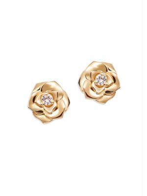PIAGET Rose Diamond &18K Rose Gold Stud Earrings
