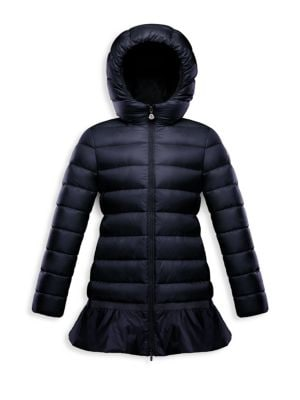 Little Girl's & Girl's Nadralingue Ruffle Quilted Coat