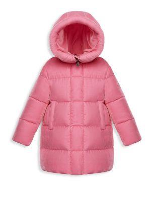 Little Girl's & Girl's Butor Velvet Hooded Jacket