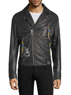 Will Print Leather Jacket