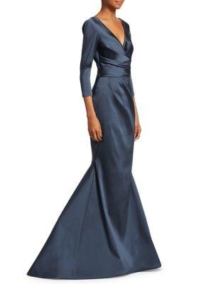 Three-Quarter Sleeve Mermaid Gown