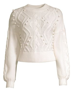 AMUR Brie Crop Wool Sweater
