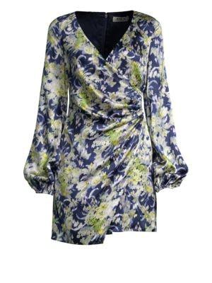 AMUR | Fran Silk Wrap Dress | Goxip
