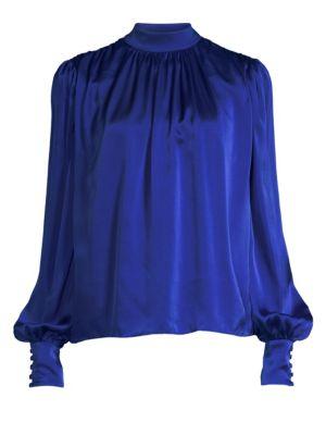 AMUR Lily Silk Blouse