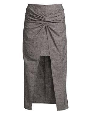 AMUR Twist Knot High-Low Skirt