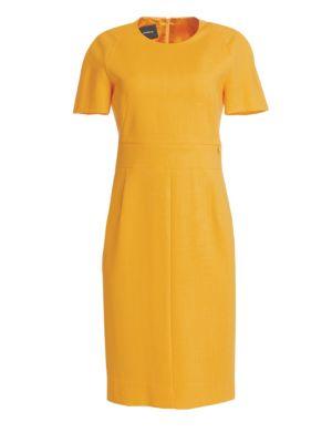 Zip Waistband Sheath Dress