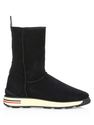 Gaby Stivale Suede Mid Calf Boots by Moncler