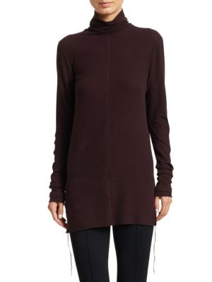 Longline Turtleneck Top