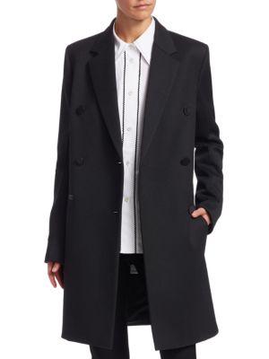 Wool-Blend Boyfriend Blazer Coat