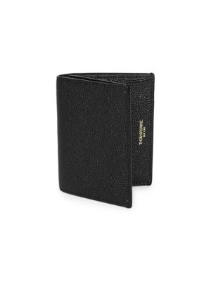 THOM BROWNE Leather Double Card Holder
