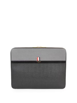 THOM BROWNE Colorblock Leather Document Holder