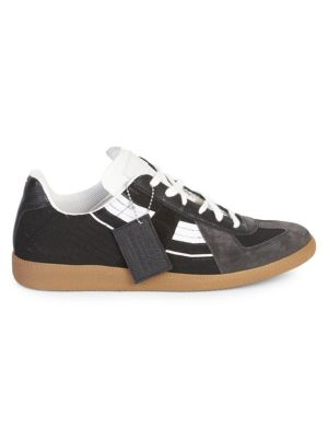 Replica Sock Leather Low-Top Sneakers