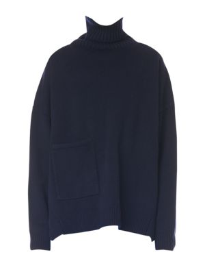 cf2df20741e0a TIBI PATCH POCKET CASHMERE TURTLENECK