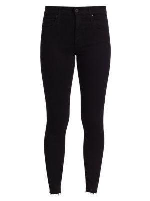 Farrah Raw-Hem Ankle Skinny Jeans