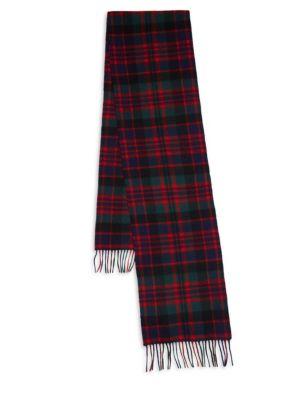 New Check Tartan Wool & Cashmere Scarf