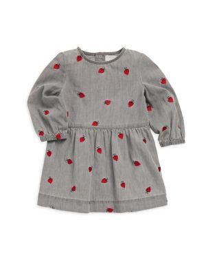 Baby Girl's Skippy Lady Bug Denim Dress