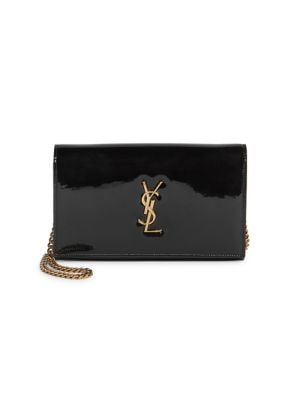 Patent Leather Chain Wallet