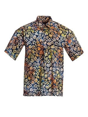 COLLECTION Cotton Hawaiian Shirt
